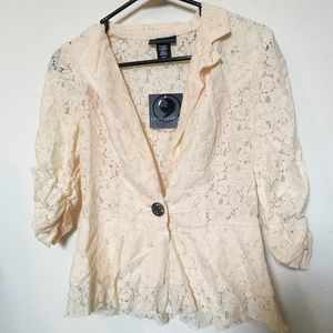 Brand new with tags lace blazer from sears